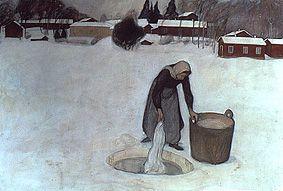 Pekka Halonen, Avannolla, 1900 (Finnish 1865-1933) (++)