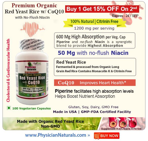Red Yeast Rice Supplement Healthy Cholesterol Levels Premium Organic Lower Cholesterol