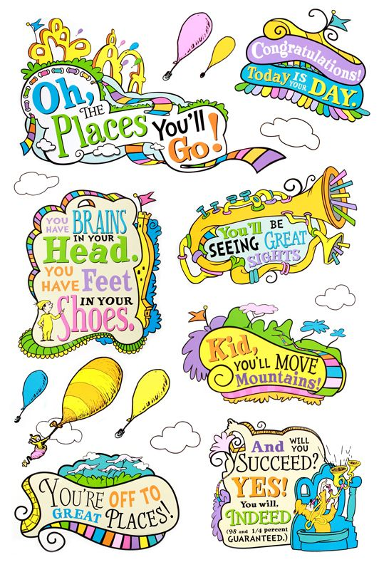 Eureka Dr Seuss Oh The Places Youll Go Bulletin