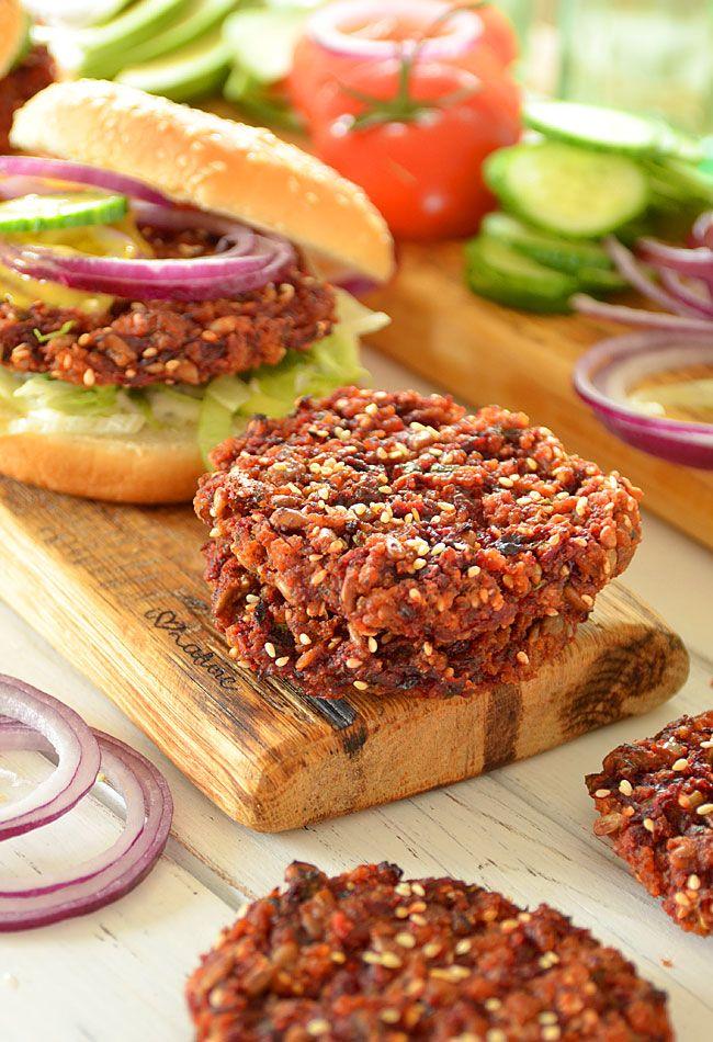 Burgery buraczane nie tylko dla wegan wg Jadłonomii