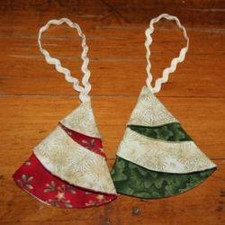 folded fabric tree ornament so cute                              …                                                                                                                                                                                 More