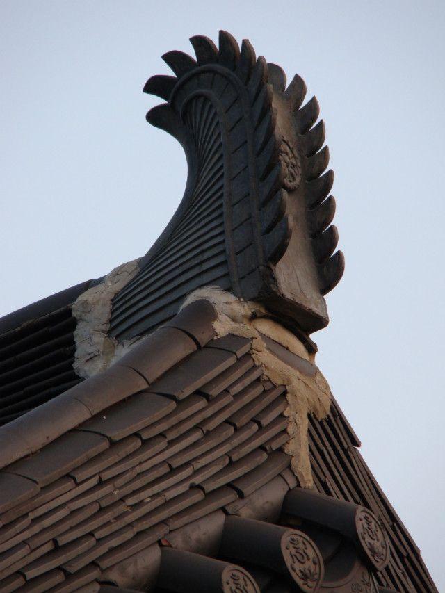 치미/유물/기와/승천하는/날개/건축