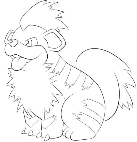 Growlithe coloring page from Generation