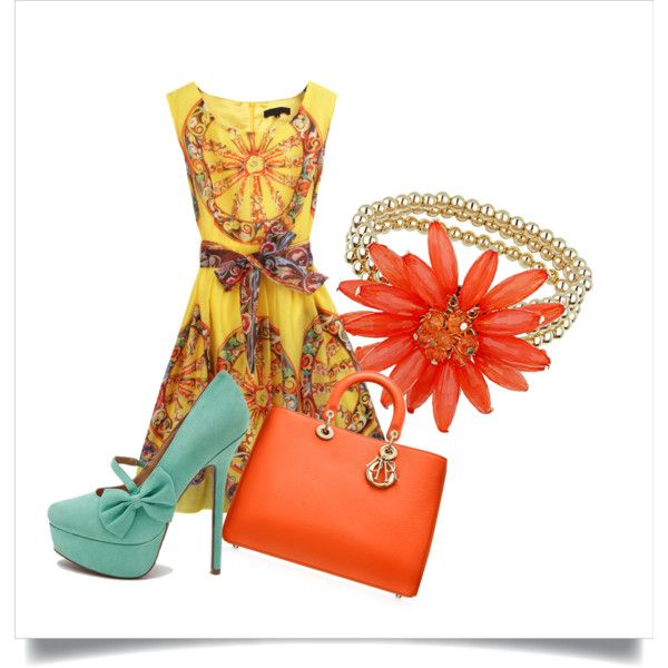 """summertime"" by agnesvanliere on Polyvore"