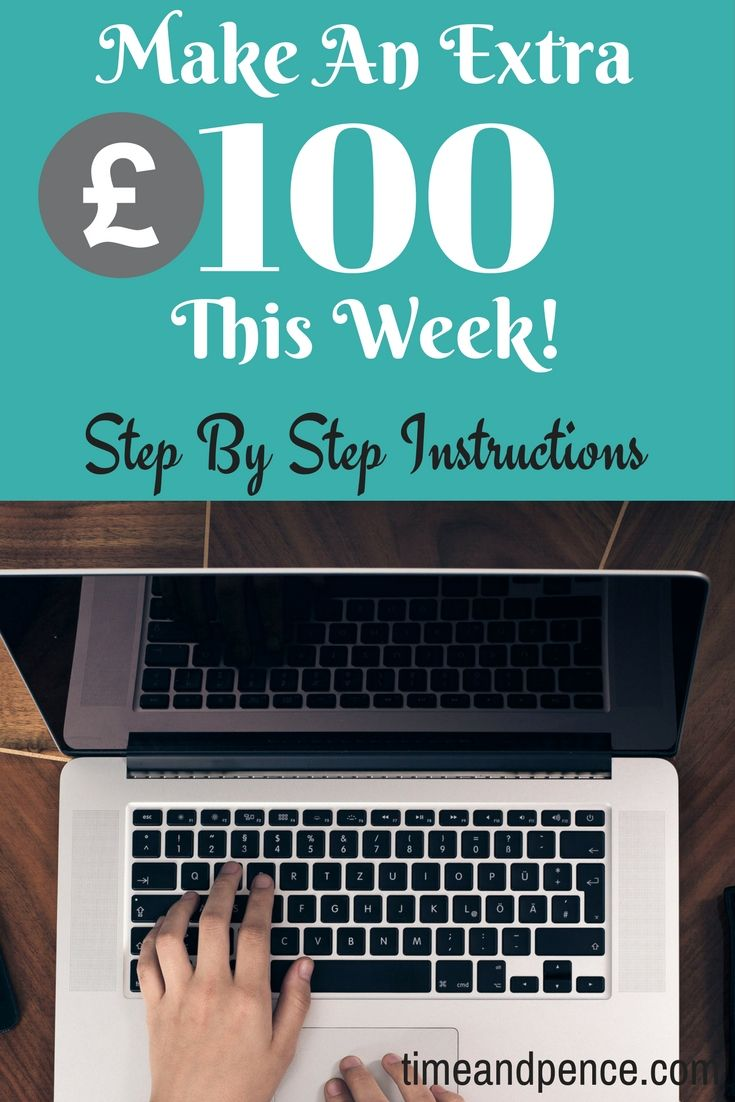 Earn extra income/ways to make more money/make an extra £100 a month/money making ideas/make money from home online
