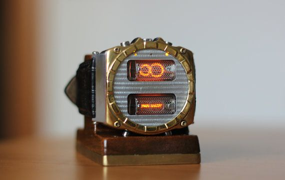 NIXIE Watch two tubes IN-16 handmade with by NixieHorisonte