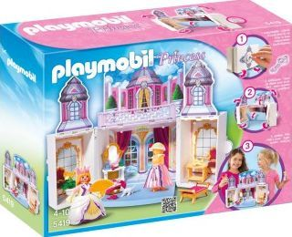 PLAYMOBIL® My Secret Play Box - Princess Castle, No. 5419 Details : The chest opens with a key, unfolds for play and can be stored easily, 1 model with dress, 1 hairdresser, 1 crown, 1 fan, 1 high chair, 1 hats, 1 Characters, Theme: Princess Age : Age 4 and  http://www.comparestoreprices.co.uk/january-2017-7/playmobil®-my-secret-play-box--princess-castle-no-5419.asp