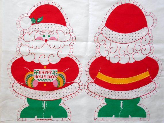 Natale fai da TE Vintage Santa Claus cuscini tessuto Natale cucito materiale Set di 2 cuscini piccoli e grandi Natale vacanza Decor del mestiere