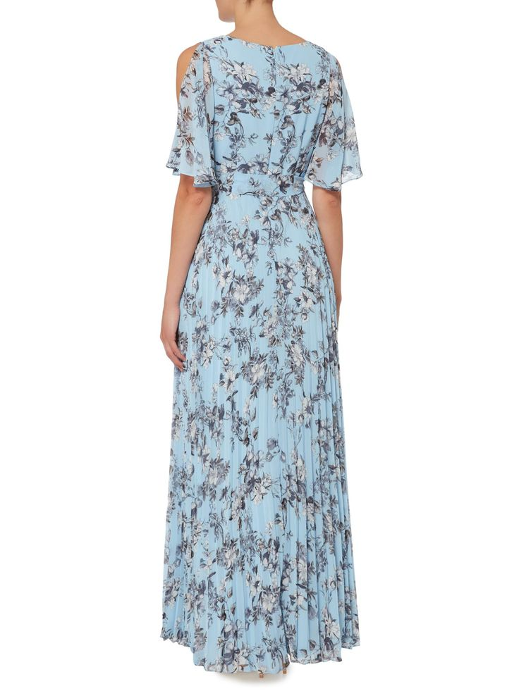 Buy your Eliza J Cold Shoulder Floral Pleated Maxi Dress online now at House of Fraser. Why not Buy and Collect in-store?
