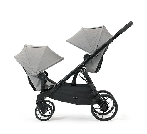 """baby jogger city select lux – also has an option of a """"bench"""" seat incl. seatbelt for older kid"""