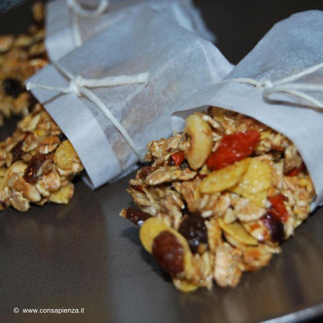 barrette ai cereali e bacche di goji homemade