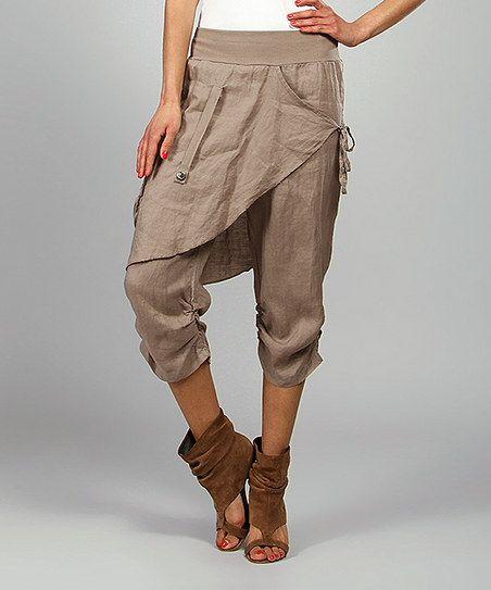 Mole Rosy Skirted Linen Harem Pants