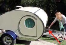 Dit lijkt misschien op een kleine camper, totdat ze de achterkant openmaken. Ongelooflijk!