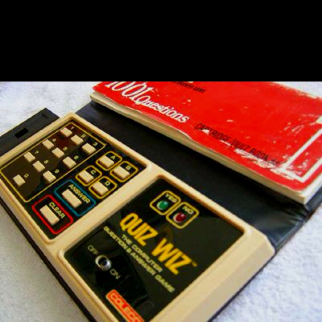 Quiz Wiz!!! 80's quiz handheld game... Oh the memories...