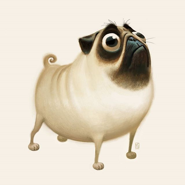 Mobedda - Patton the pug...in deep think mode