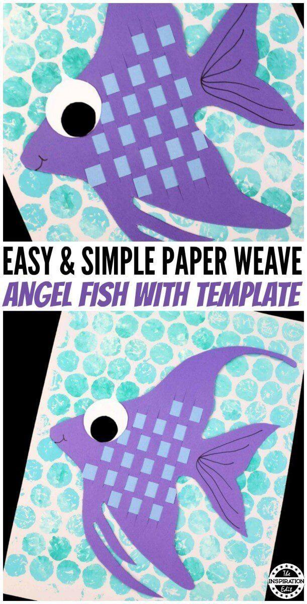 Paper Weave Fish Ocean Craft For Kids Recipe Fish Crafts