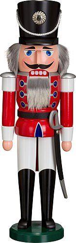 German nutcracker hussar red height 50 cm  20 inch original Erzgebirge by Seiffener Volkskunst * For more information, visit image link.