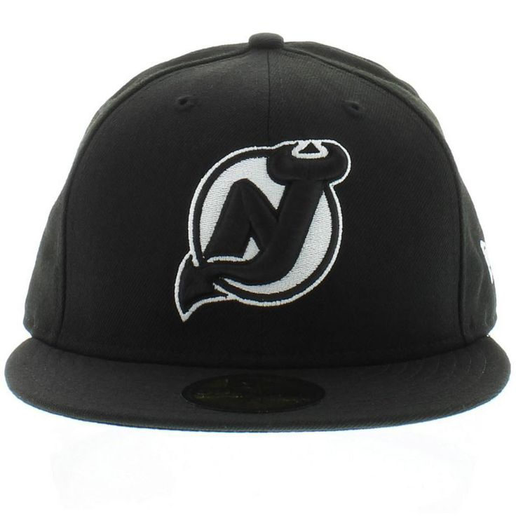 New Jersey Devils Black White NHL 59Fifty Size 7