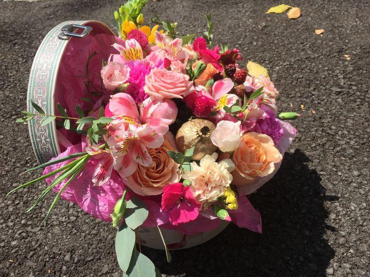 Коробочка с цветами Алматы