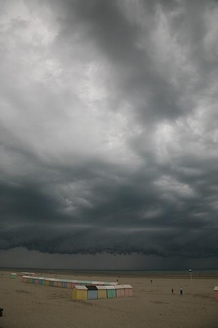 """Berck-Plage, Pas de Calais (62). France : """" horizon de pluie """" by (vincent desjardins), via Flickr"""