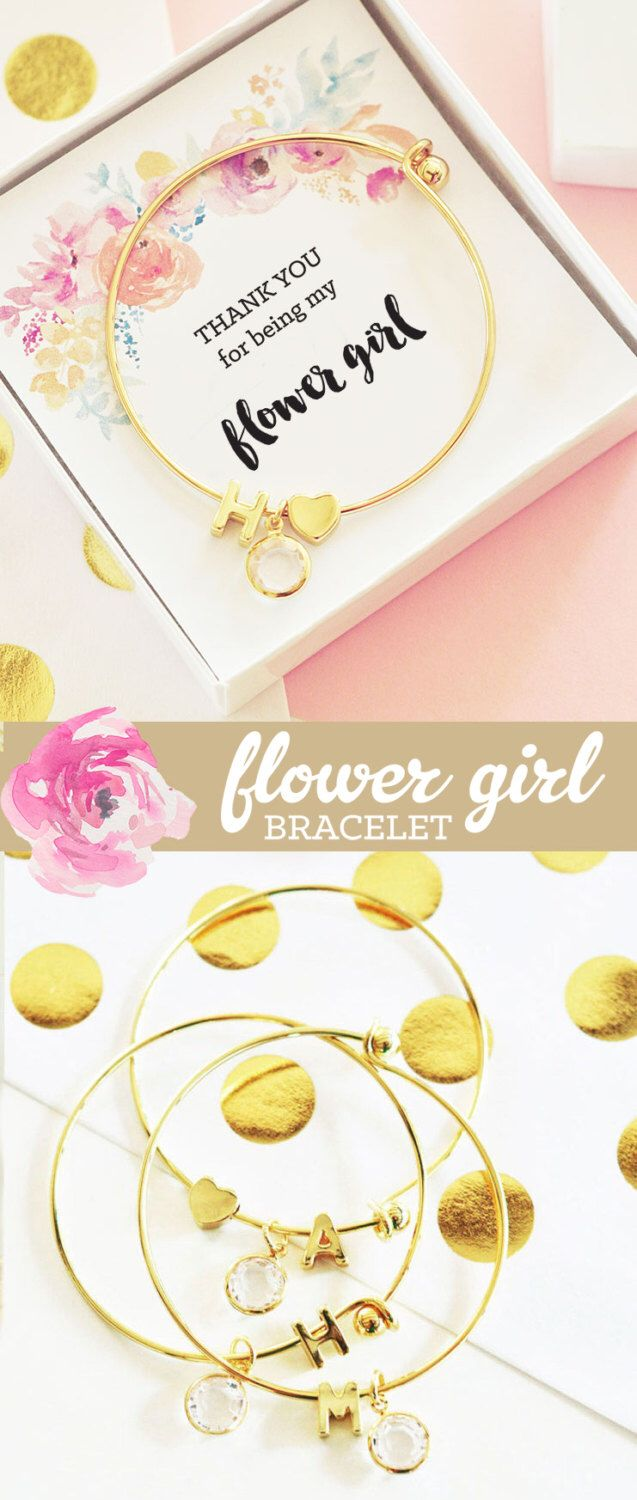 Little gils new jewellery for children first birthday gift ideas - Personalized Flower Girl Bracelet Flower Girl Gift Ideas Jewelry Flower Girl Gift Ideas Child Bracelet