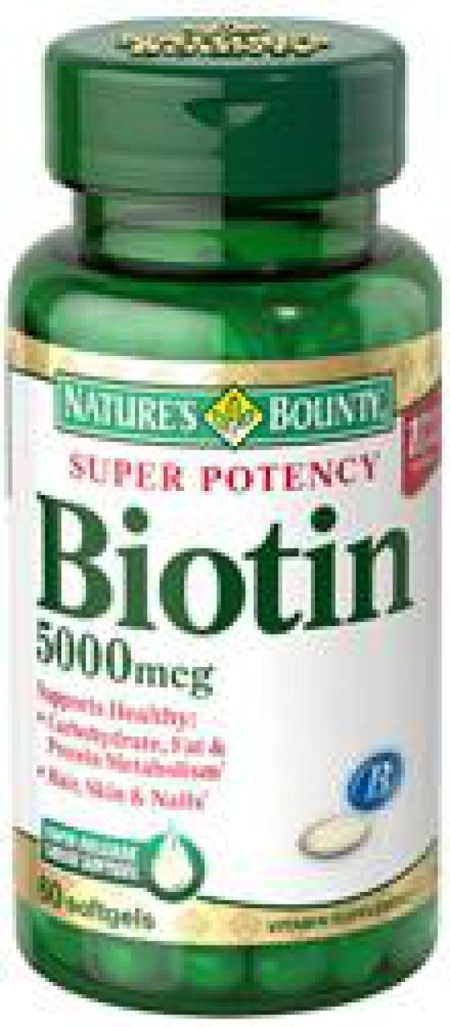 The 4 Best Brands of Biotin Pills to Increase Hair Growth: Nature's Bounty, Super Potency Biotin, 5000mcg, 60-Count