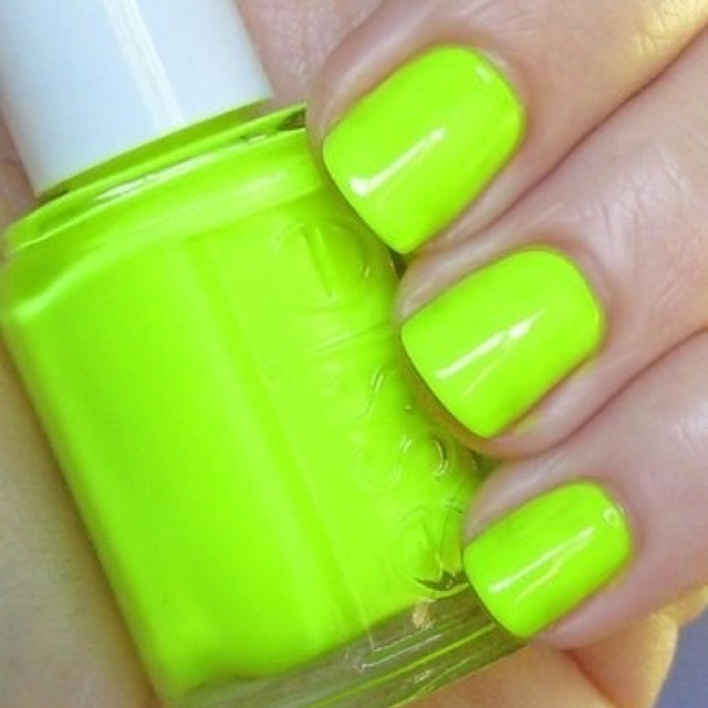 Lime green nails ;)