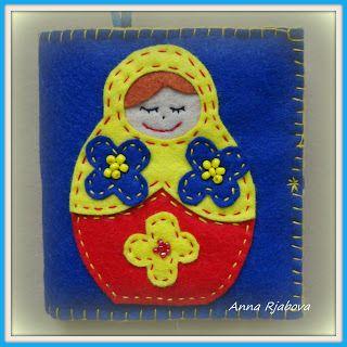 Модные куклы: Органайзер для шитья из фетра