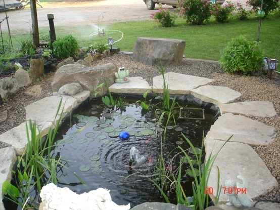 10 best images about landscape on pinterest for Garden pond stones