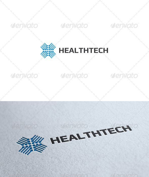 logo, blue, health, technology, unit, cross, line, symmetrical, all caps