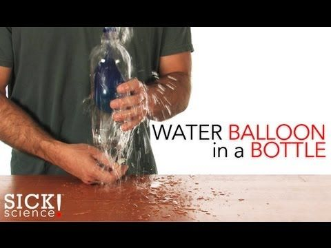 {Water Balloon in a Bottle} Awesome!