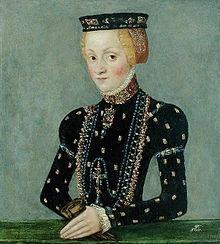 Catherine Jagellon (1526 - 1583). Queen of Sweden from 1568 until her death in 1583. She the first wife of John III and had two children with him. She raised her son as a Catholic, and tried to influence her husband to convert to Catholicism.