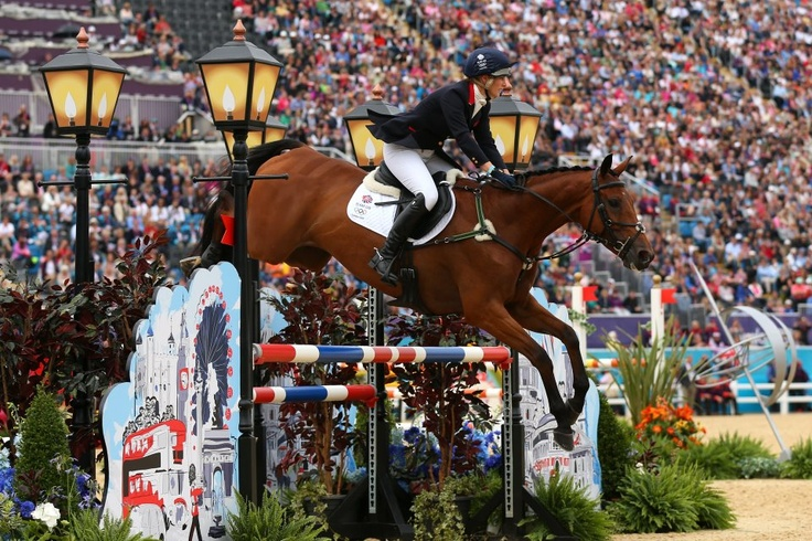Zara Phillips and High Kingdom in action for Team GB in the Show Jumping Eventing