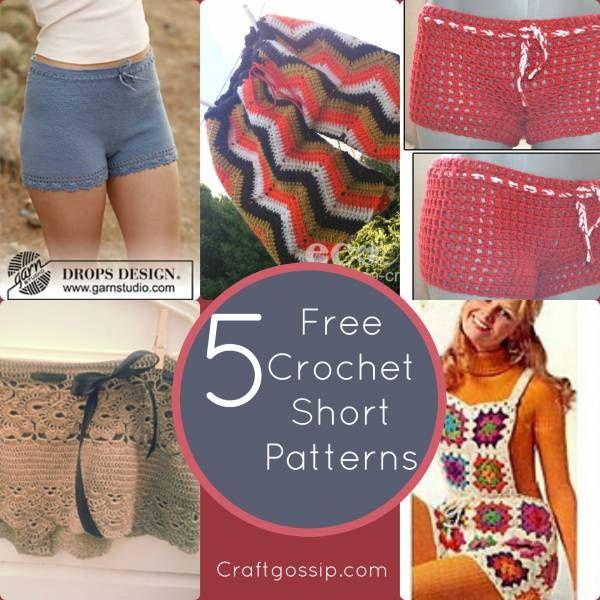 5 Free Crochet Short Patterns