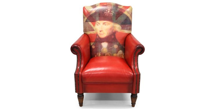 The Lord Nelson chair - of course the picture on the seat back can be changed to whatever you want - ideal for a gift to a loved one. By Tetrad International.