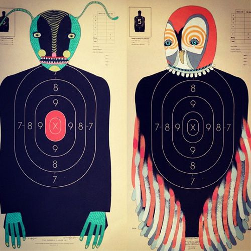 My Owl Barn: Jennifer Davis Hand-Painted Paper Shooting Targets