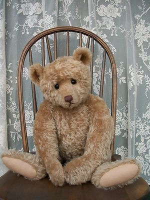Antique Steiff Style Artist Teddy Bear by Craig Bottiger. He looks so sad! :( You've got to love him!