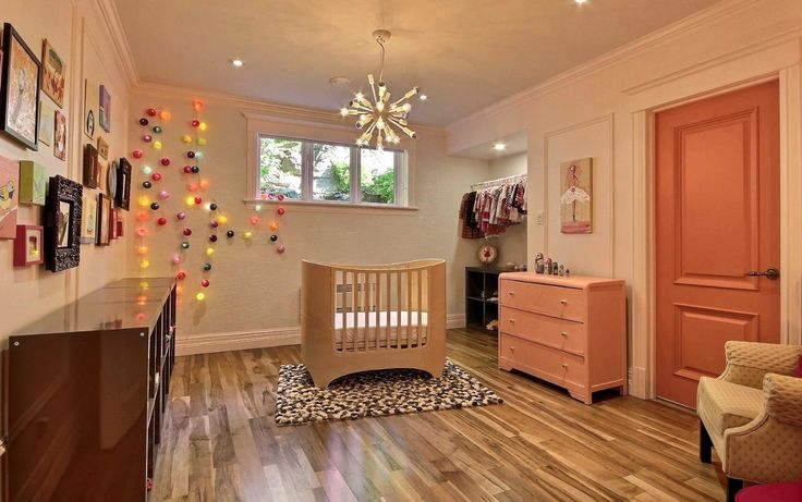Beautiful nursery featuring Lauzon's Organik Hard Maple hardwood flooring Charm. This flooring features the exclusive air-purifying technology called Pure Genius technology. Project realized by Brigitte Lafleur. #interiordesign #hardwoodfloor #artfromnature
