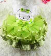 A maioria dos Estilos Saia da Festa de Casamento Do Gato Do Cão do Filhote de Cachorro Do Cão Vestido de Princesa Roupas alishoppbrasil