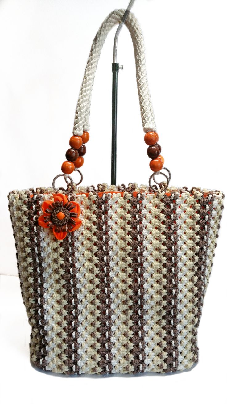 Macrame Bag https://www.etsy.com/listing/527378945/brown-beige-macrame-bag-handbag-flower?ref=shop_home_active_1