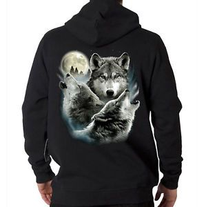 Wolf Moon Shoes | Three-Wolf-Moon-Howling-Wolves-Moonlight-Animal-Spirit-Hooded ...