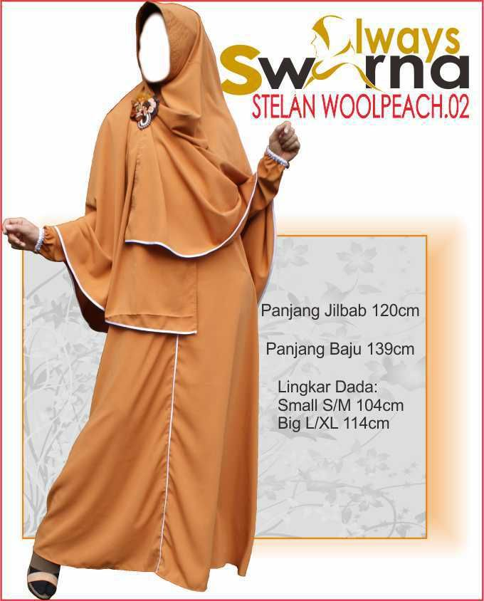 Baju Gamis Wanita Syar'i – Model Busana Muslim- Always Swarna stelan woolpeach.02 – mustard
