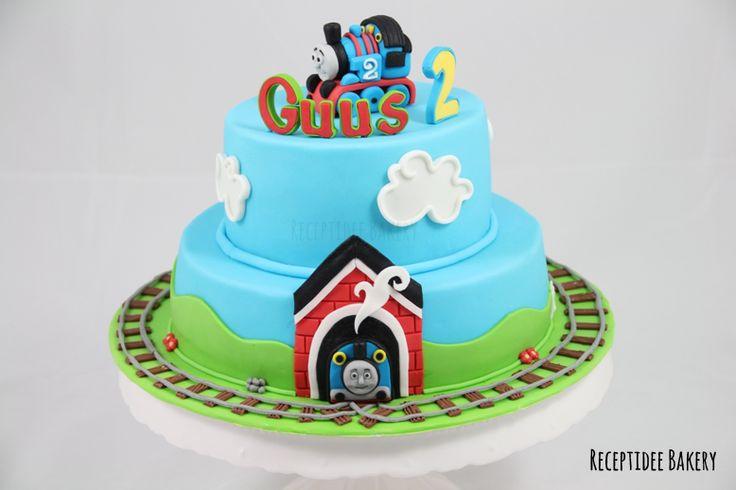 Thomas de trein (Thomas the train) #cakedecoration #thomasthetrain #birthday #taart #cake