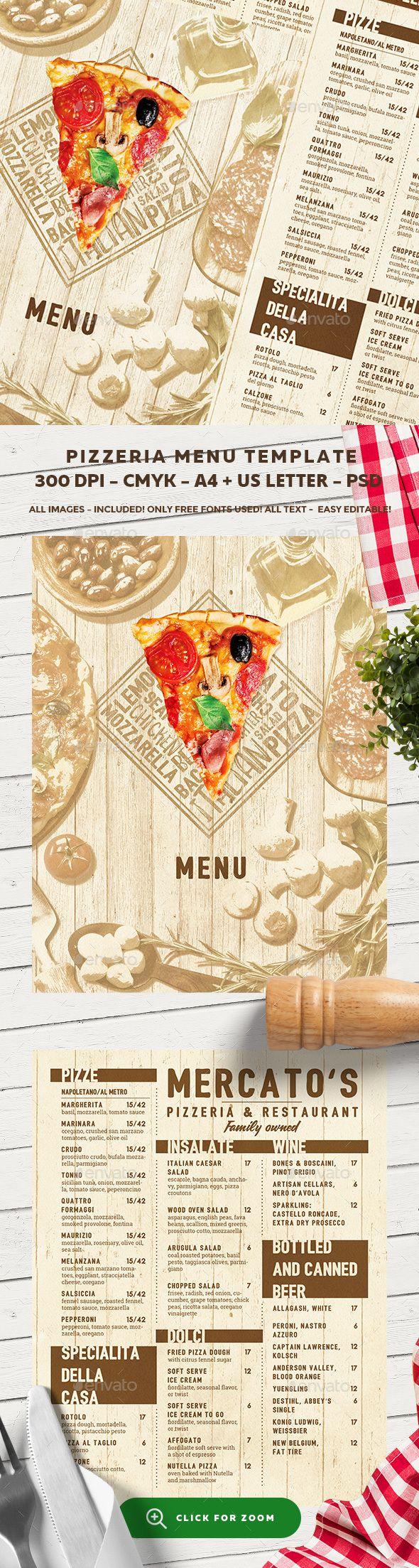 Pizza Menu Template PSD. Download here…