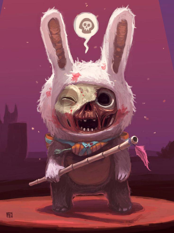 Zombie teemo by alejowar.deviantart.com on @DeviantArt (The freakiest Teemo I have EVER seen)