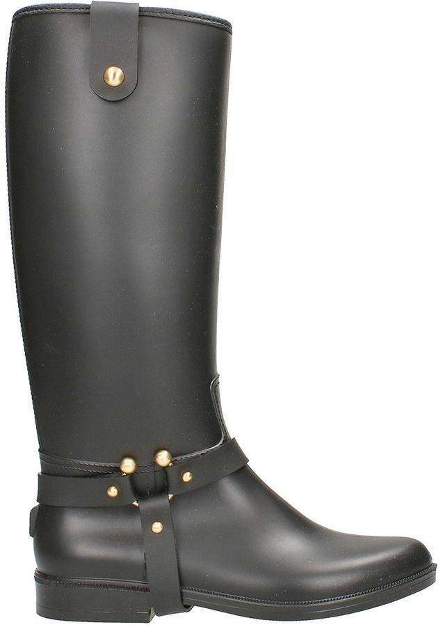 RED Valentino Black Rain Boot