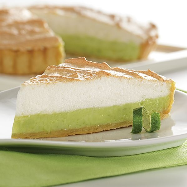 Bring a touch of spring into your home with our refreshing Key Lime Meringue Tart. For crust, prepare recipe for single crust pie & bake. For filling, beat egg yolks & egg, then add our sweetened condensed milk & lime juice. Stir in lime peel & pour into crust. For meringue, combine sugar, cornstarch & water, then cook over heat. Beat egg whites & vanilla & add sugar. Gradually add cornstarch. Spoon over filling, bake, cool, then dig into this citrusy treat.