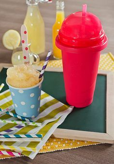Grab your Chill Factor Slushy Maker and enjoy our Sunshine Slushy recipe! #SummerSips