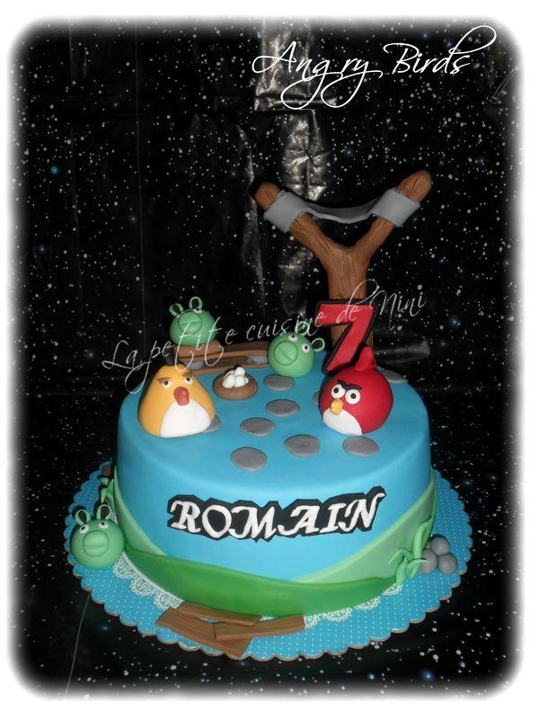 Gâteau d'anniversaire Angry Birds