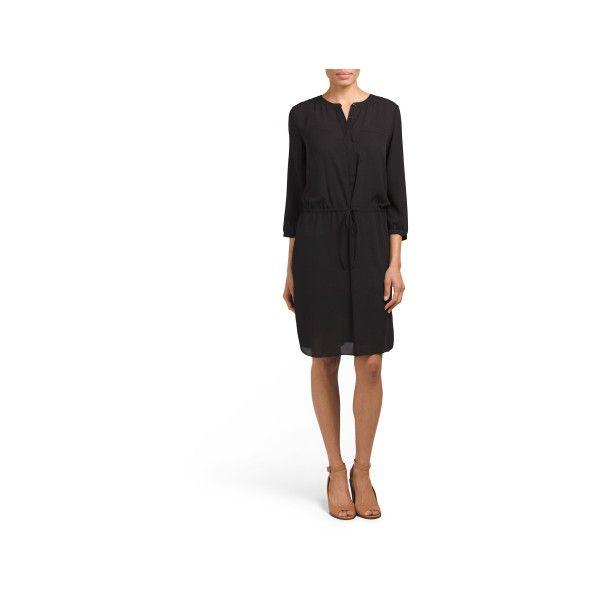 Lauren Pleat Back Dress ($40) ❤ liked on Polyvore featuring dresses, 3 4 sleeve long dresses, white slip dress, long slip, white sheer dress and slip dress